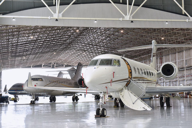 Jet Aviation Singapore Hangar