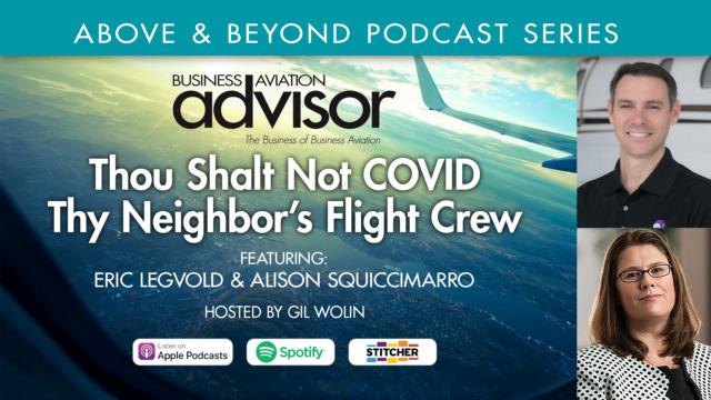 Thou Shalt Not COVID Thy Neighbor's Flight Crew
